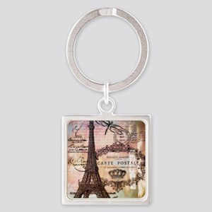 Eiffel tower collage Keychains