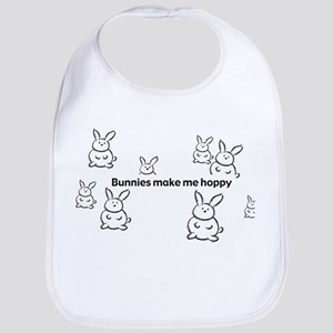 Bunnies Make Me Hoppy Bib