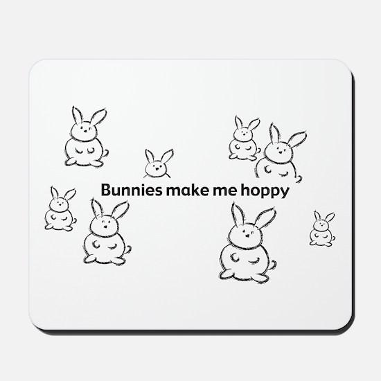 Bunnies Make Me Hoppy Mousepad