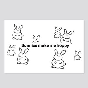 Bunnies Make Me Hoppy Postcards (Package of 8)