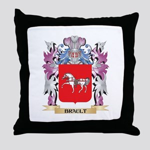 Brault Coat of Arms (Family Crest) Throw Pillow