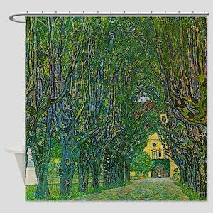 Gustav Klimt - Avenue In Schlob Kam Shower Curtain