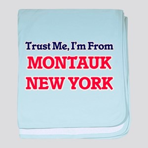 Trust Me, I'm from Montauk New York baby blanket