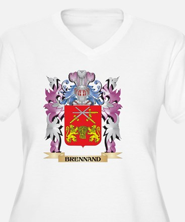 Brennand Coat of Arms (Family Cr Plus Size T-Shirt