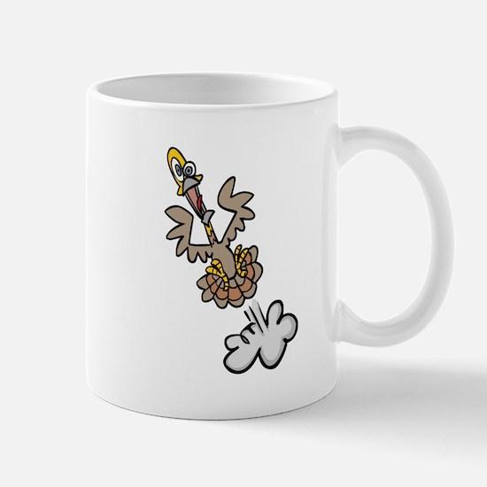 Silly Jumping Turkey Mug