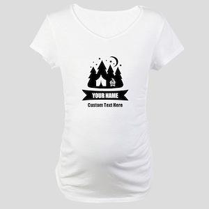CUSTOM Camping Design Maternity T-Shirt