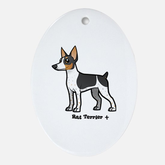 Cute Rat terrier Oval Ornament