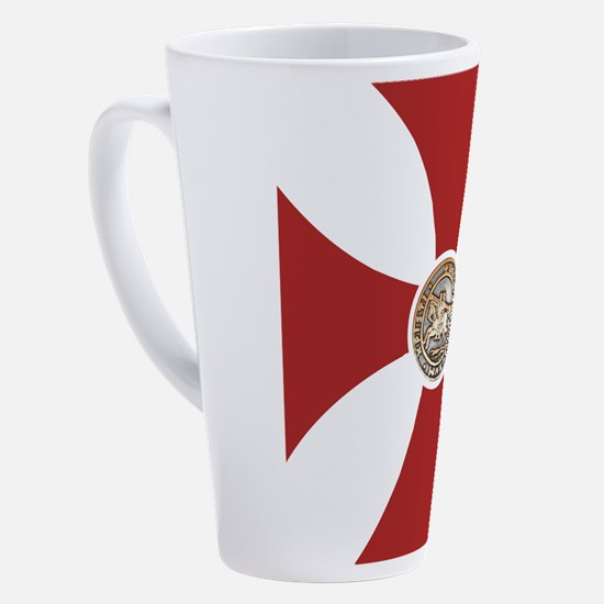 Cute Knights templar 17 oz Latte Mug