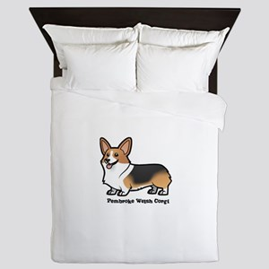 pembroke welsh corgi Queen Duvet