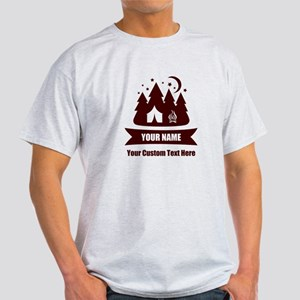 CUSTOM Camping Design Red/Brown T-Shirt