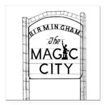 Magic City Logo Square Car Magnet 3