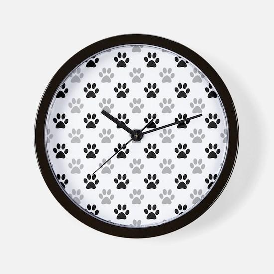 Funny Animal tracks Wall Clock