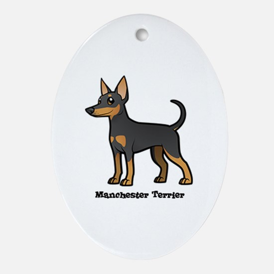 Cute Manchester terrier Oval Ornament