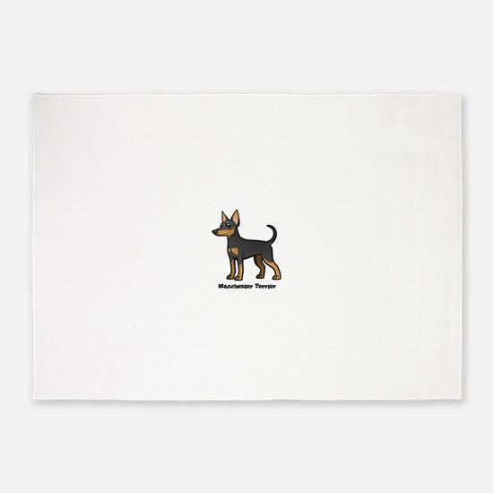 manchester terrier 5'x7'Area Rug