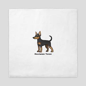 manchester terrier Queen Duvet