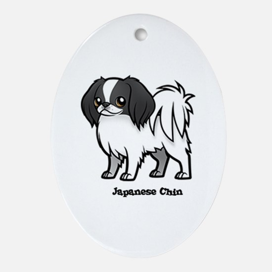 Cute Chins Oval Ornament