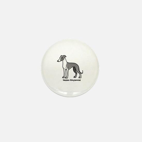 Cute Italian greyhound Mini Button