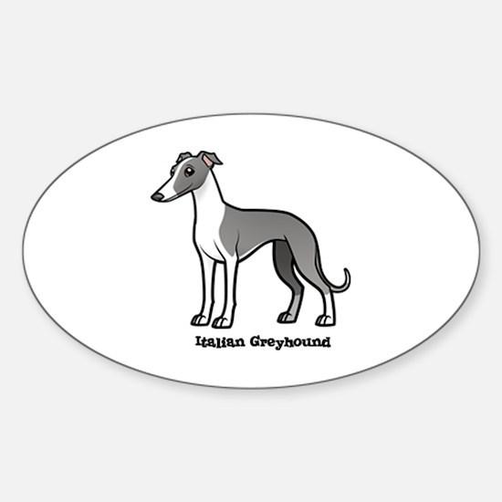Cute Italian greyhound Sticker (Oval)