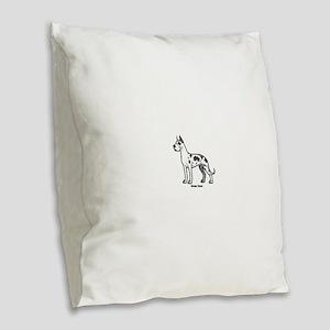 great dane Burlap Throw Pillow
