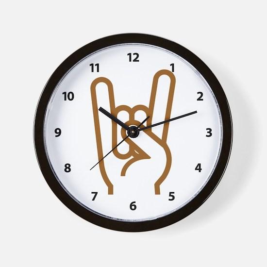 Metal Horns Wall Clock
