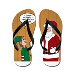 Elf Retirement Flip Flops