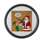 Elf Retirement Large Wall Clock
