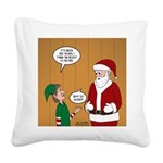 Elf Retirement Square Canvas Pillow