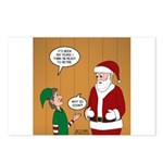 Elf Retirement Postcards (Package of 8)