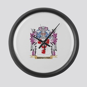 Brinkstra Coat of Arms (Family Cr Large Wall Clock