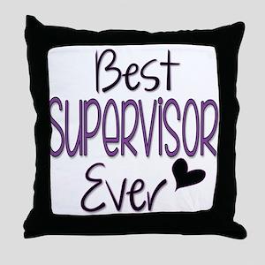 Speech Supervisor Throw Pillow