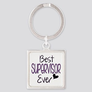 Speech Supervisor Square Keychain Keychains