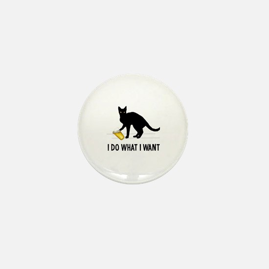 Cute Black cat Mini Button