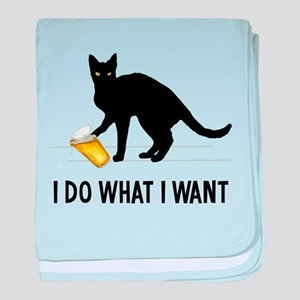I Do What I Want baby blanket