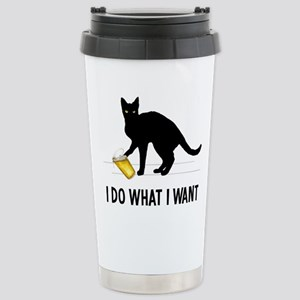 I Do What I Want Stainless Steel Travel Mug