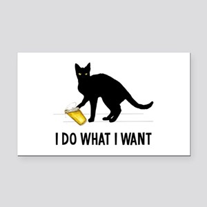 I Do What I Want Rectangle Car Magnet
