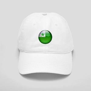 Esperanto Flag Jewel Cap