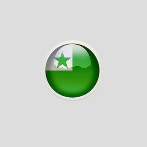 Esperanto Flag Jewel Mini Button