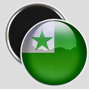 Esperanto Flag Jewel Magnet