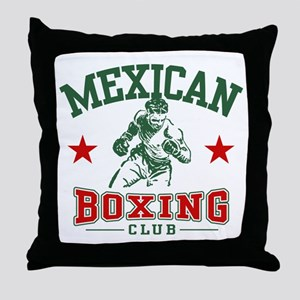 Mexican Boxing Throw Pillow