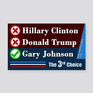 Gary Johnson, The 3rd Choice Rectangle Car Magnet