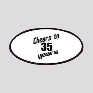 Cheers To 35 Years Birthday Patch