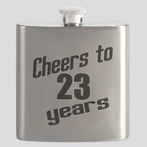 Cheers To 23 Years Birthday Flask