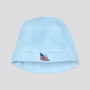 Old Glory baby hat