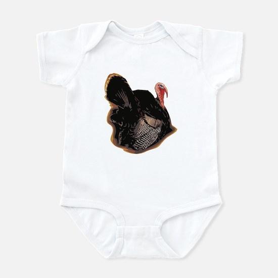 Realistic Sitting Turkey Infant Bodysuit