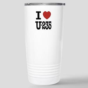 I Love U-235 Mugs