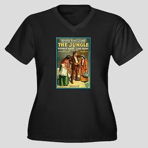 The Jungle Women's Plus Size V-Neck Dark T-Shirt