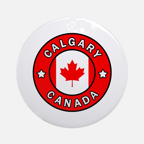 Cute Calgary canada Round Ornament
