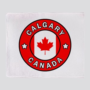 Calgary Canada Throw Blanket
