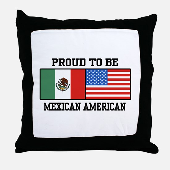 Proud Mexican American Throw Pillow