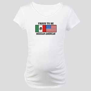 Proud Mexican American Maternity T-Shirt